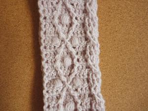 かぎ針でアラン編み風