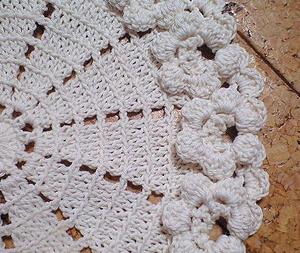 ドイリー縁編み